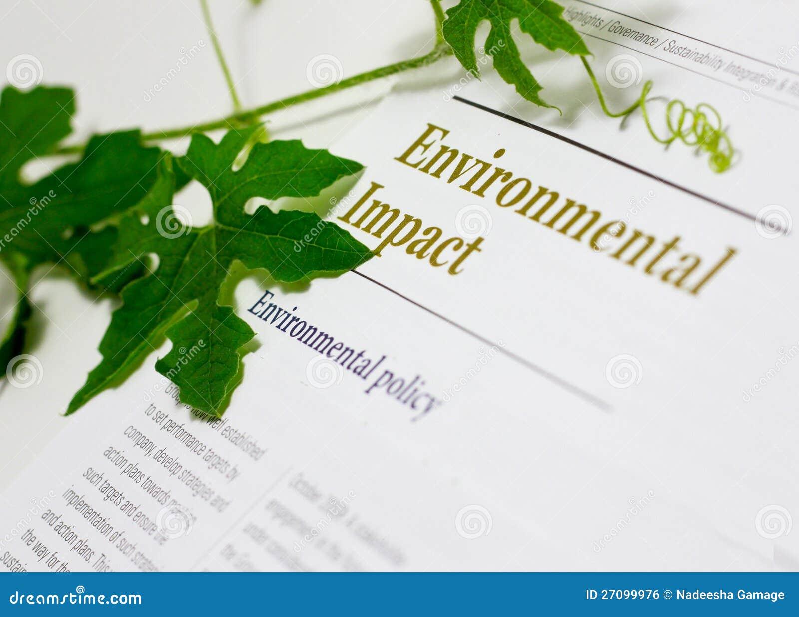 Incidences sur l environnement