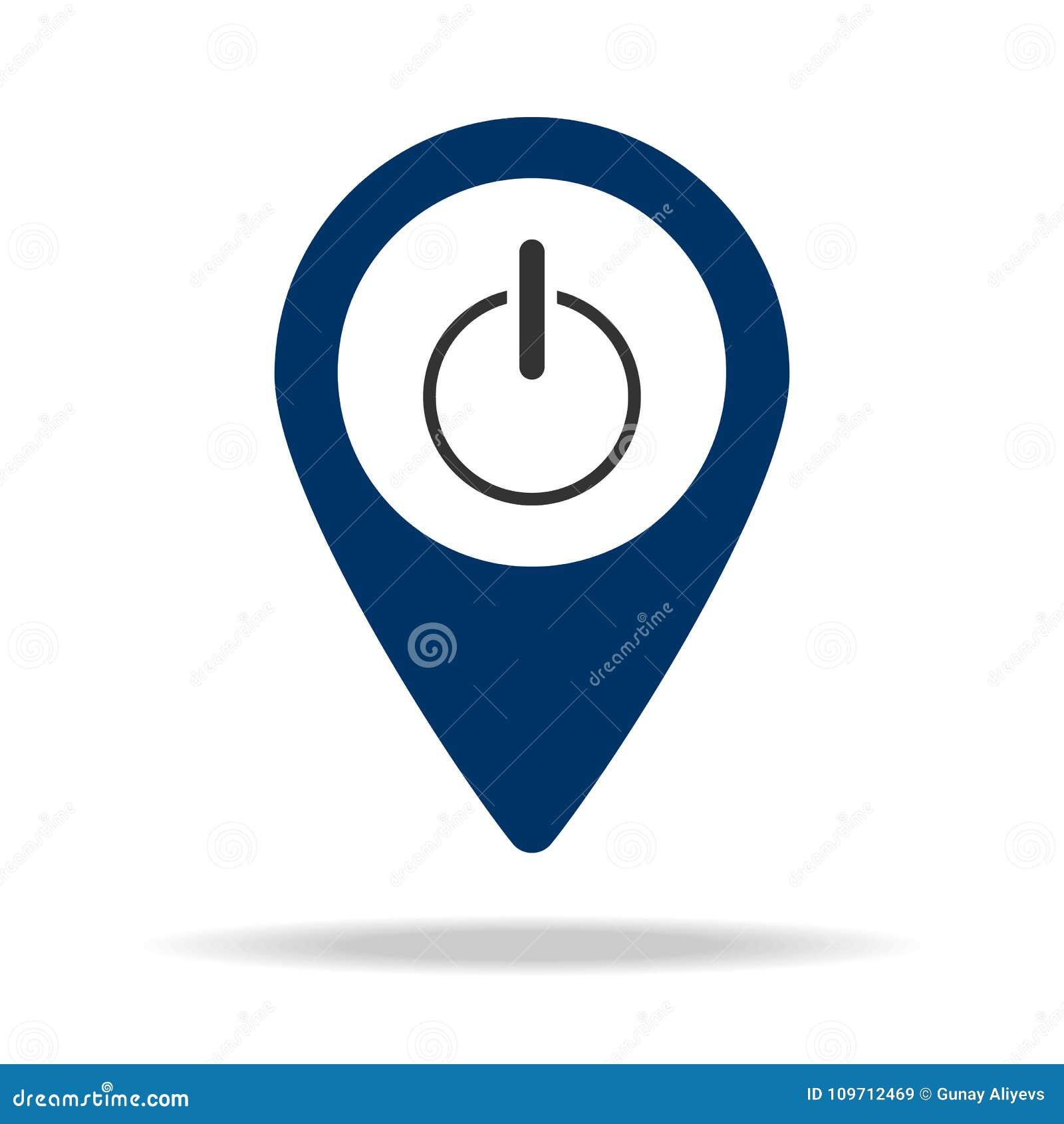 Inclusion dans l icône bleue de goupille de carte Élément de point de carte pour les apps mobiles de concept et de Web Icône pour