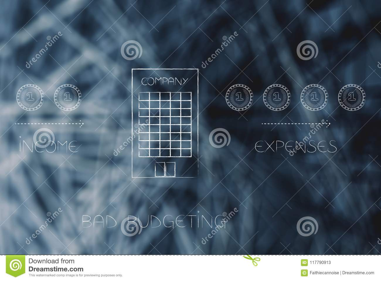 Less Income Going Into Company Building And More Expenses Bad Circuit Breaker Budgeting Financial Cashflow Conceptual Illustration Out