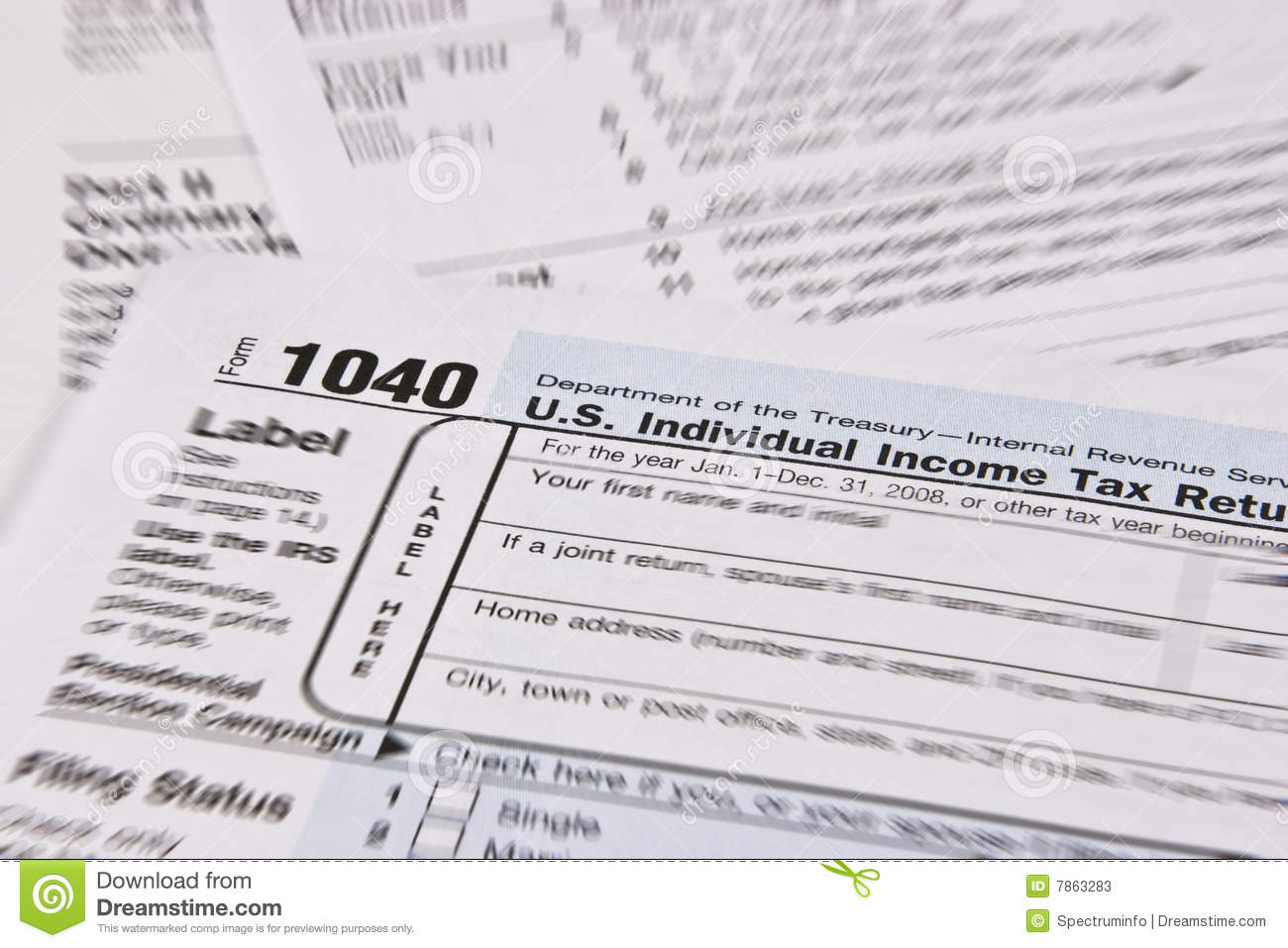 Income tax return stock photos image 7863283 for Household bargaining and the design of couples income taxation