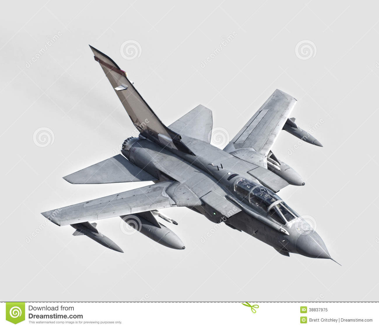 Incoming fighter jet