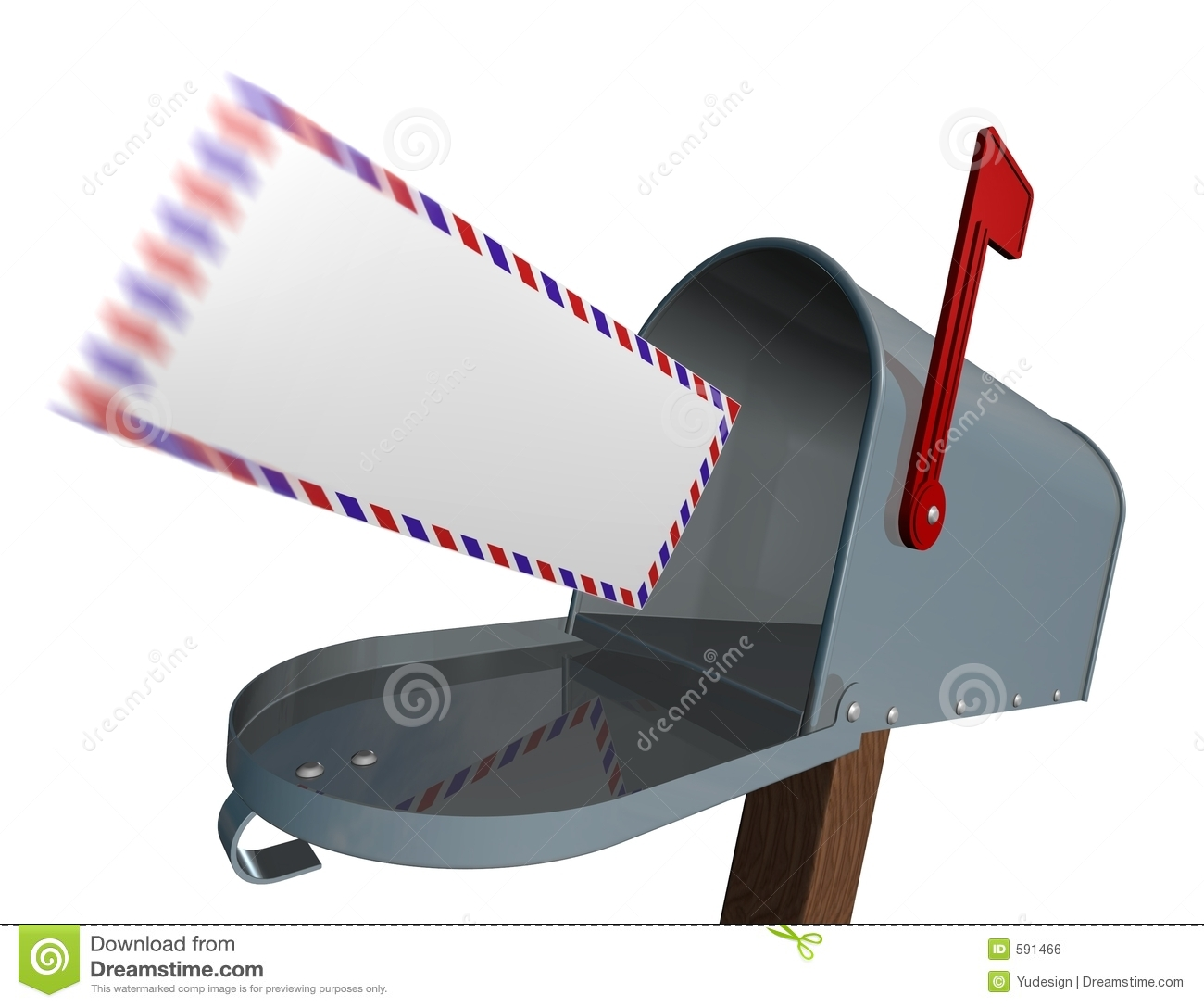 Jpg Post Info: Incoming Mail Royalty Free Stock Image