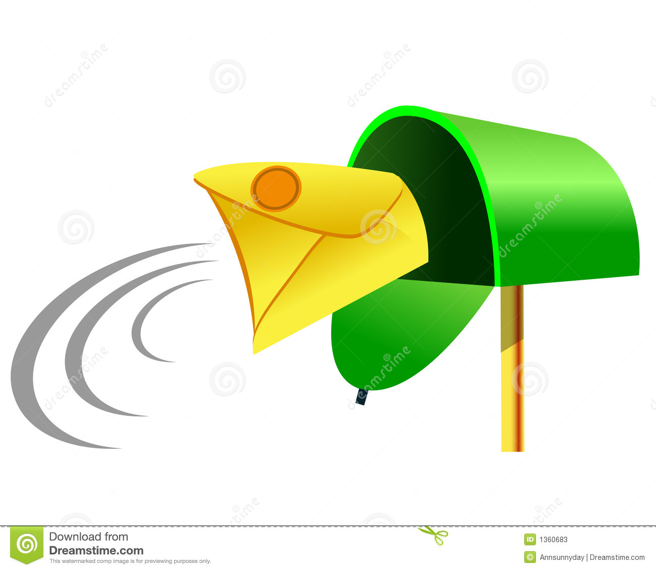 Incoming Mail Mailbox Stock Photos Image 1360683