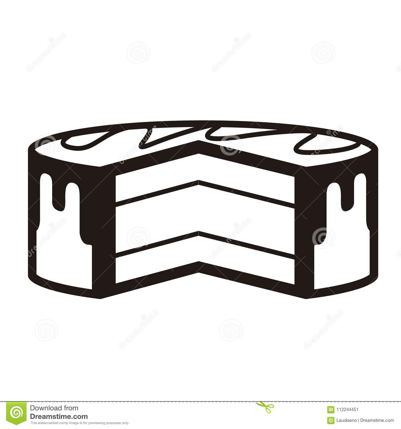 Incomplete Birthday Cake Icon Stock Vector Illustration Of Piece
