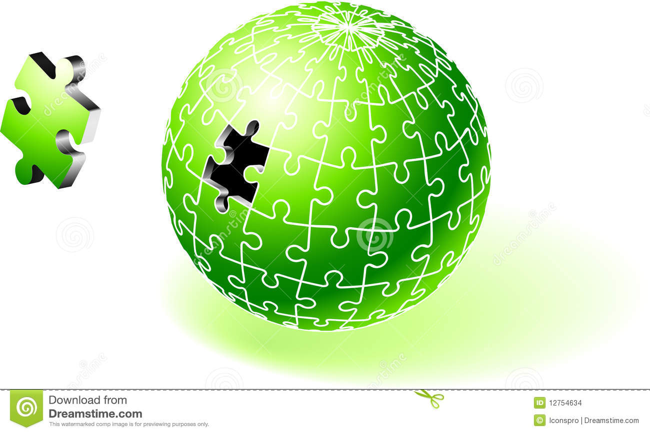 ... IllustrationIncomplete Globe Puzzle Ideal for Unity Concept