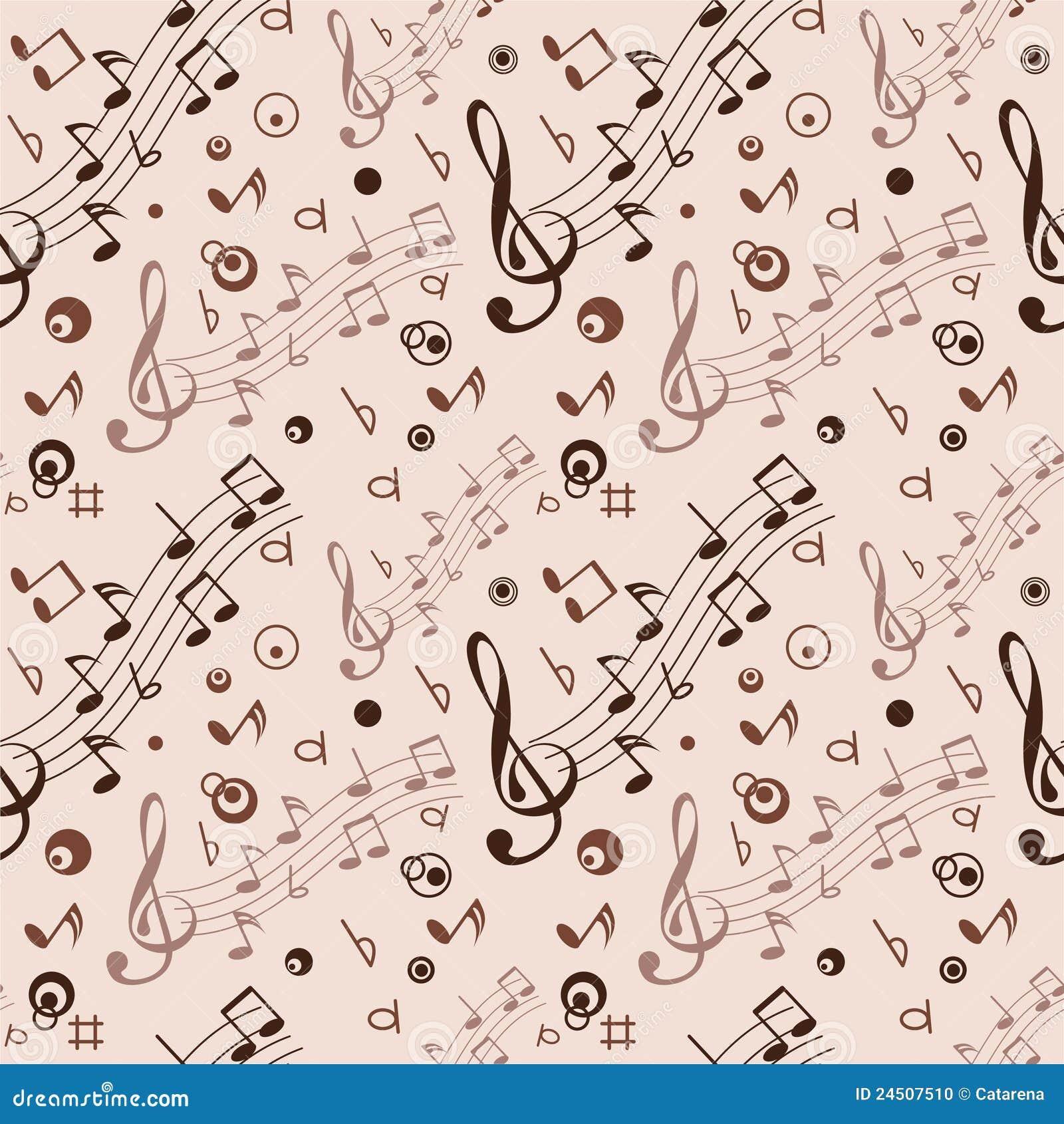 Incons til con algunas notas musicales ilustraci n del - Pared decorada con fotos ...