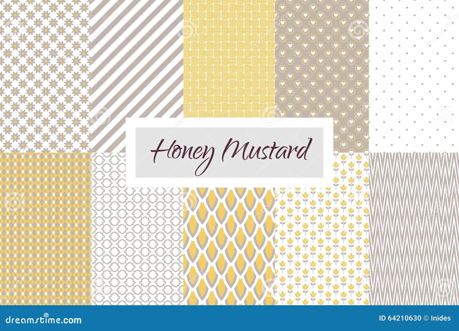 Inconsútil geométrico amarillo y de color topo de la mostaza