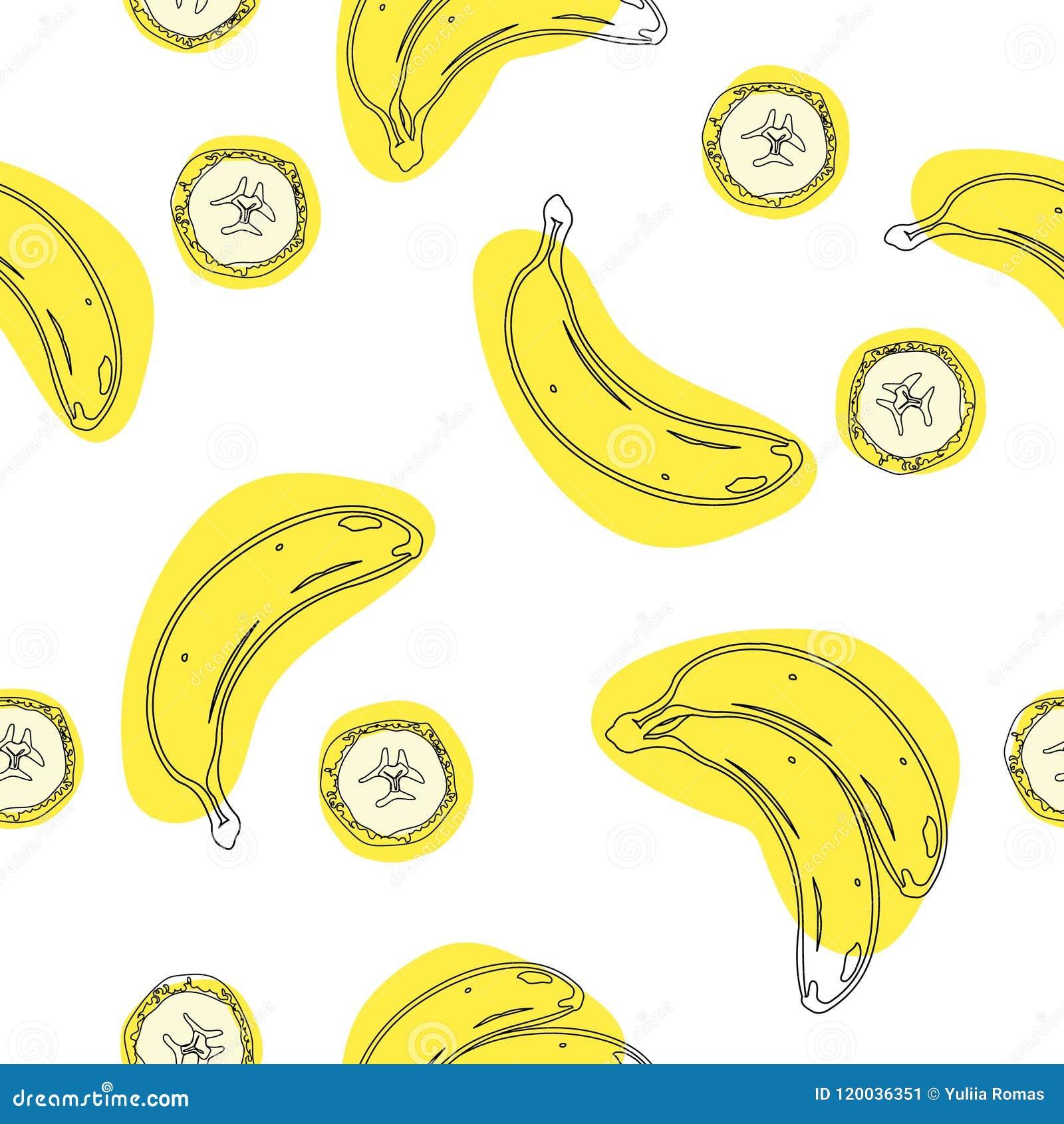 Inconsútil geométrico del plátano Papel de embalaje, carte cadeaux, cartel, diseño de la bandera Decoración casera, impresión mod