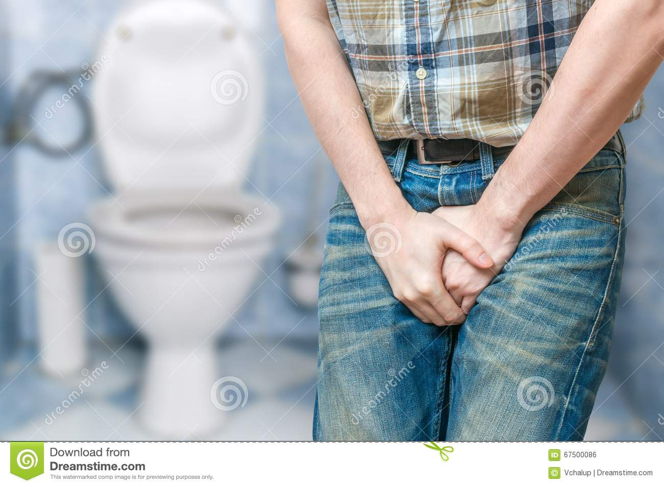 Full bladder pee holding