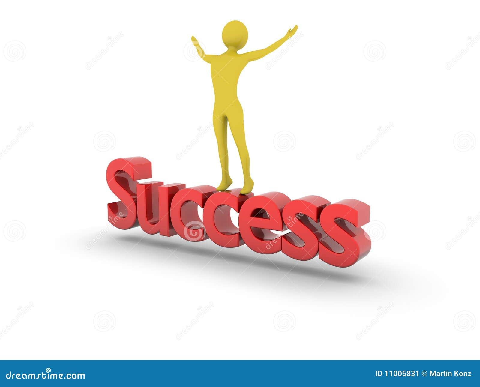 Incoraggiando in cima al successo