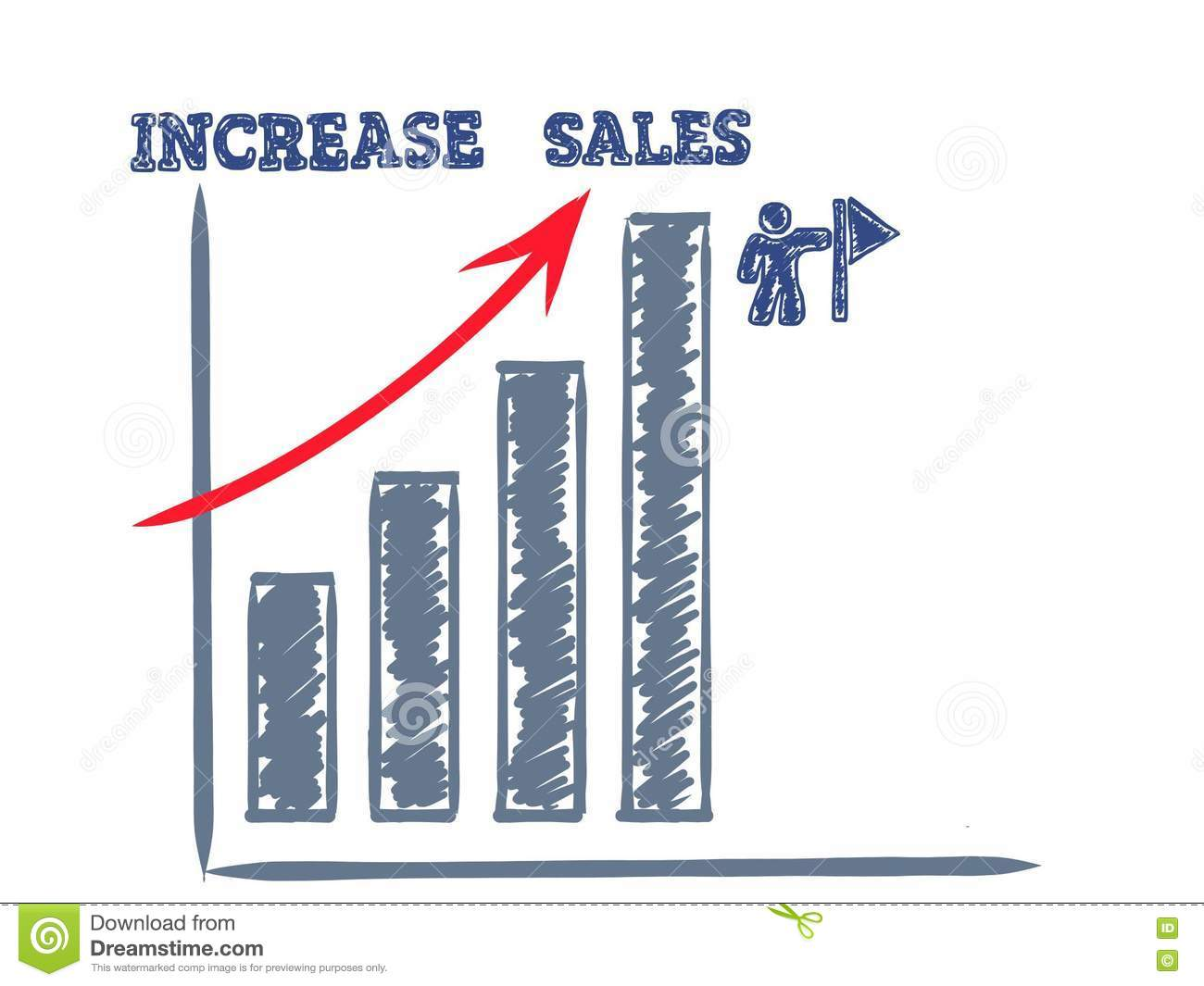 Increase sales and profit, business concept