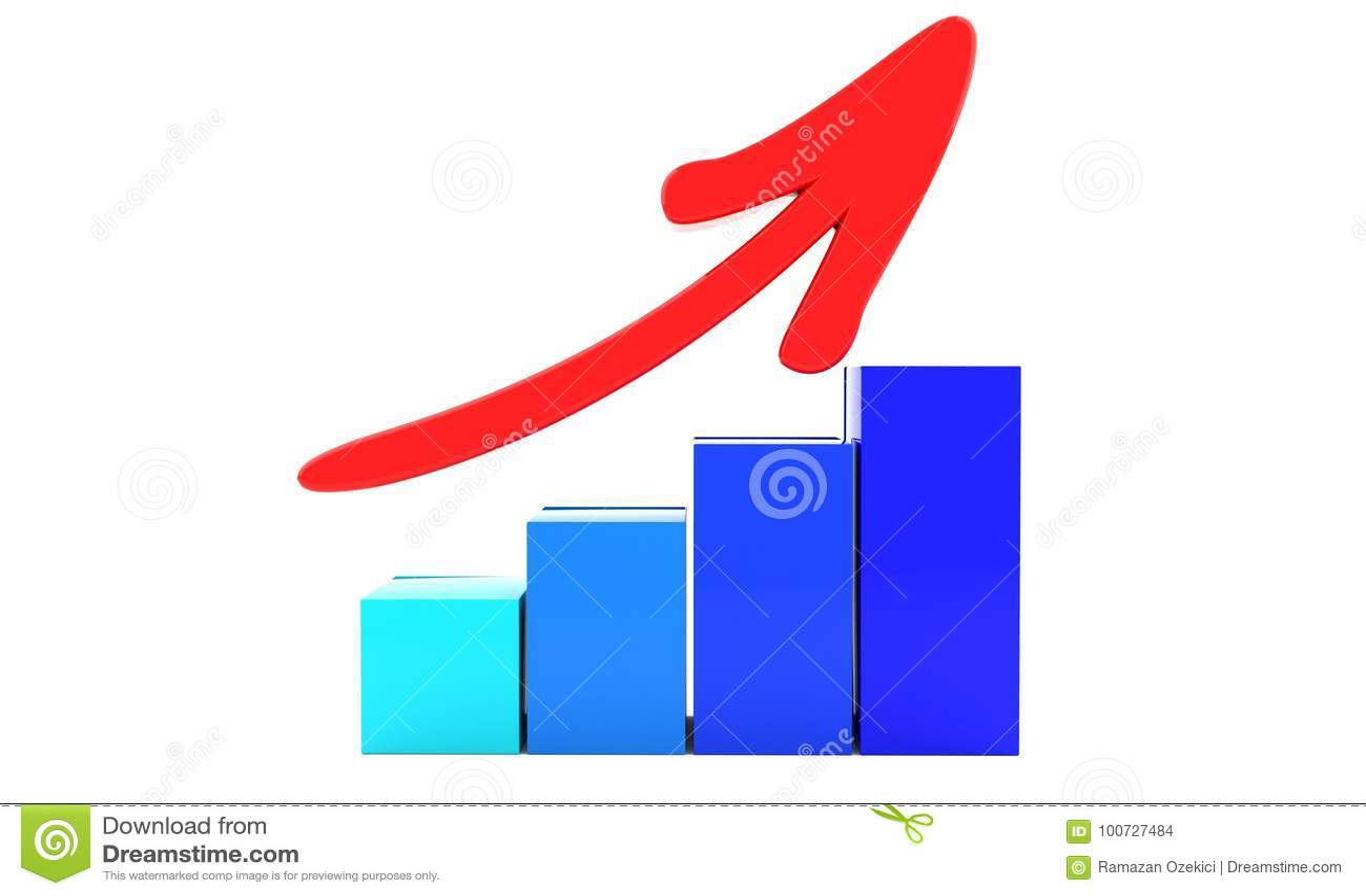 Increase Symbol Of Background 3d Stock Illustration Illustration
