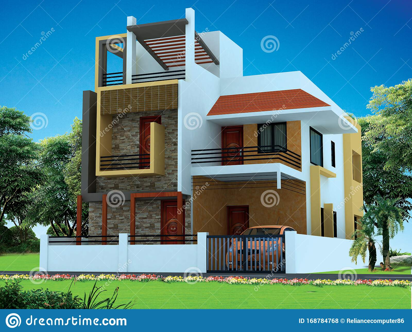 Incredible House Design Ideas Images Best House Design Images Latest House Images Design Stock Illustration Illustration Of 2021 View 168784768