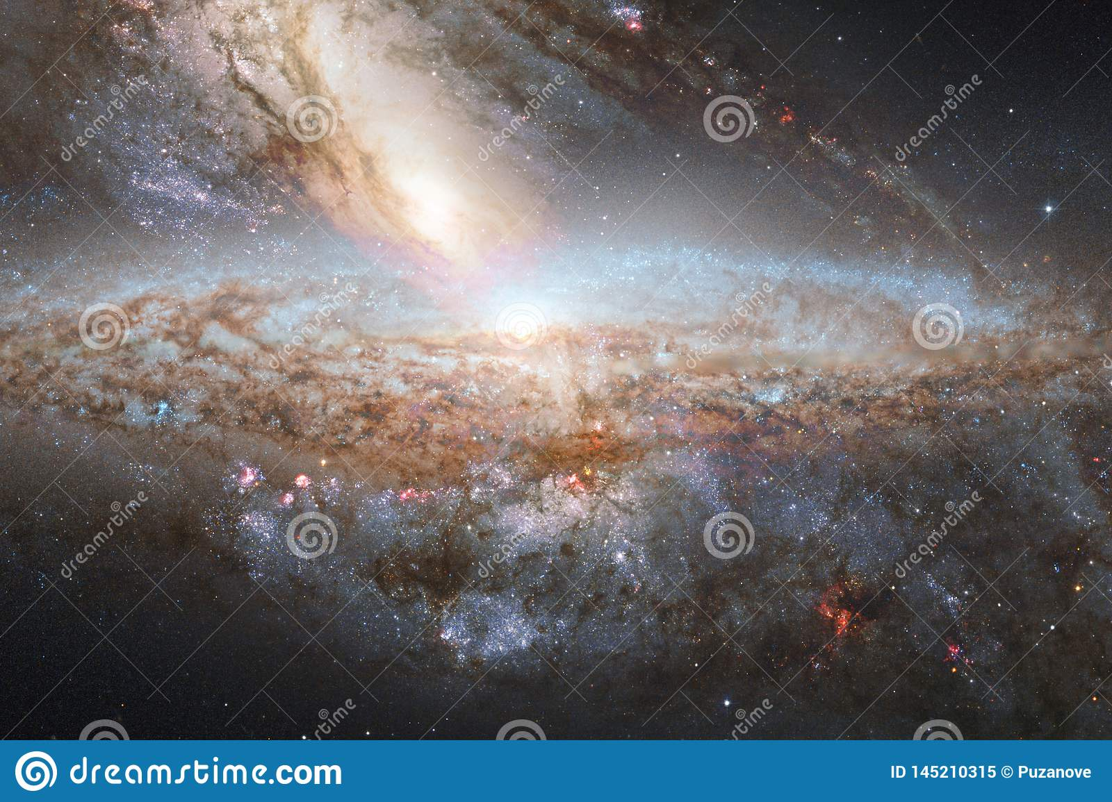 Incredibly Beautiful Galaxy Somewhere In Deep Space Science