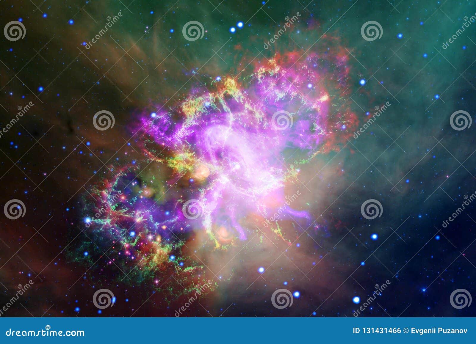 Incredibly härlig galax många ljusår långt från jorden Beståndsdelar av denna avbildar möblerat av NASA