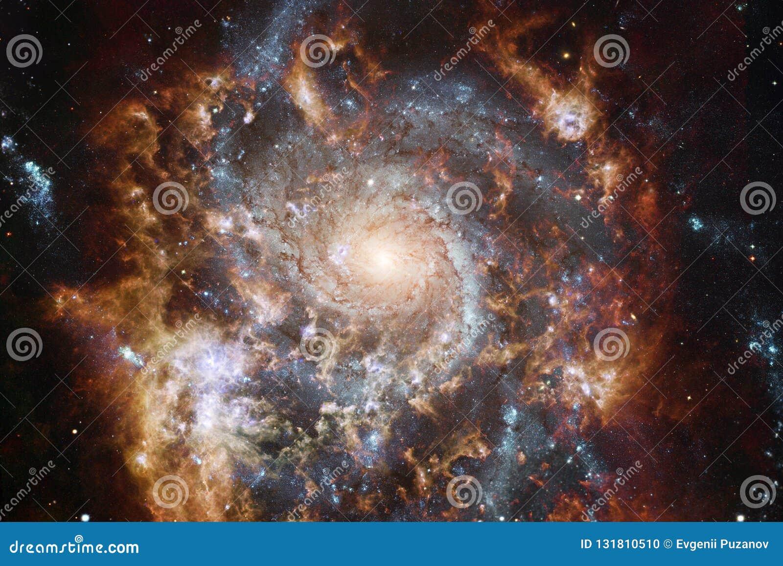 Incredibly härlig galax någonstans i djupt utrymme Sciencetapet Beståndsdelar av denna avbildar möblerat av NASA