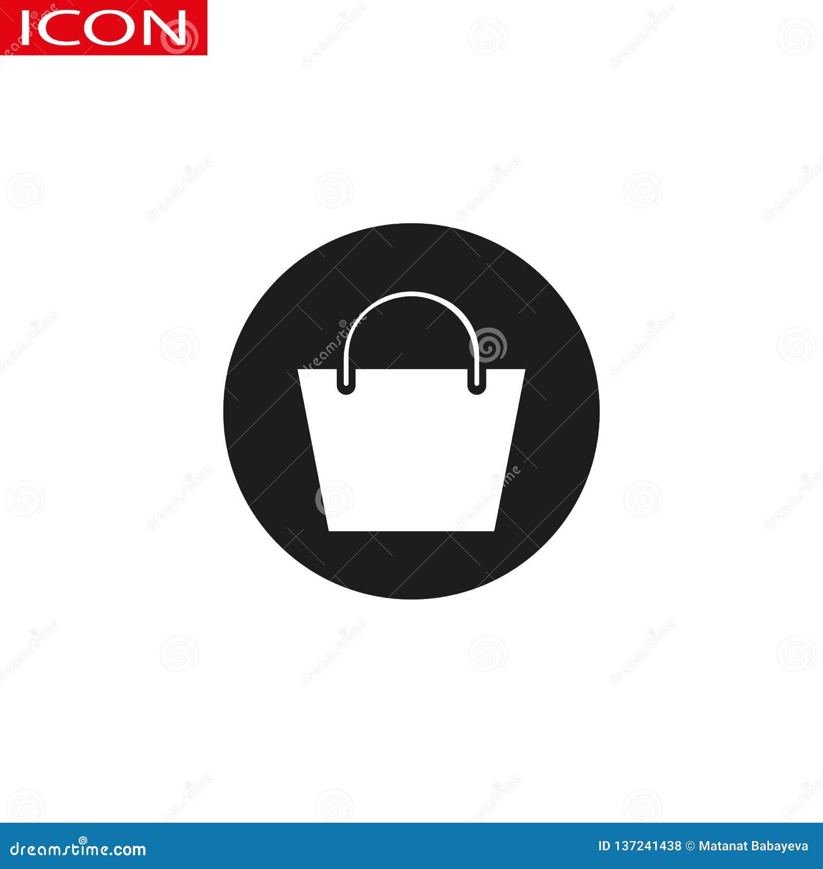 Increspi il vettore dell icona della borsa, il segno piano riempito, pittogramma solido isolato su bianco Simbolo, illustrazione