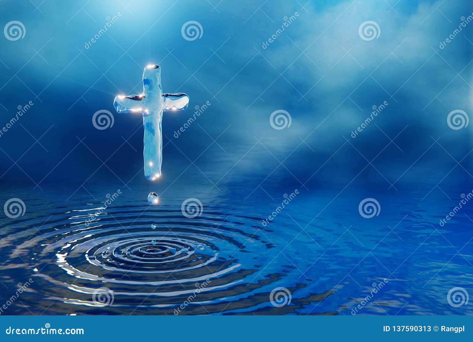 Incrocio cristiano dell acqua santa