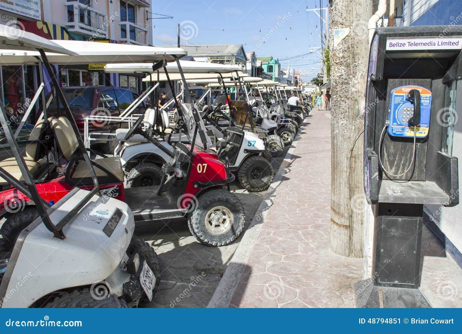 Incrocio del carretto di golf