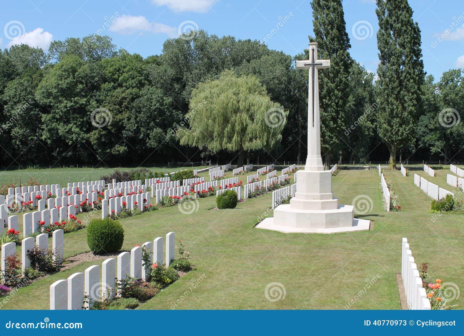 Incrocio del cimitero Belgio di Wytschaete WW1 di sacrificio