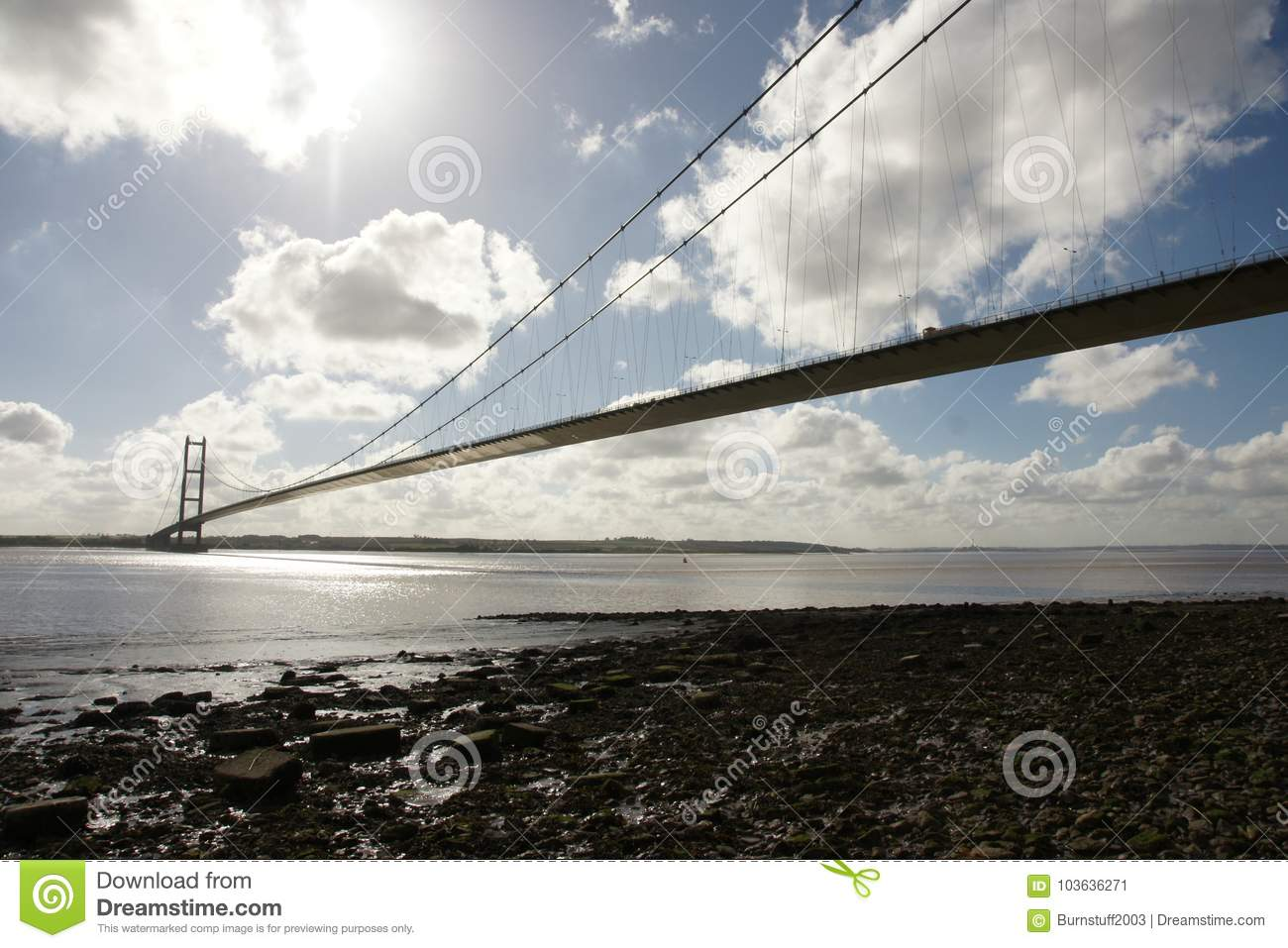 Incrocio di fiume del ponte Humber Kingston Upon Hull