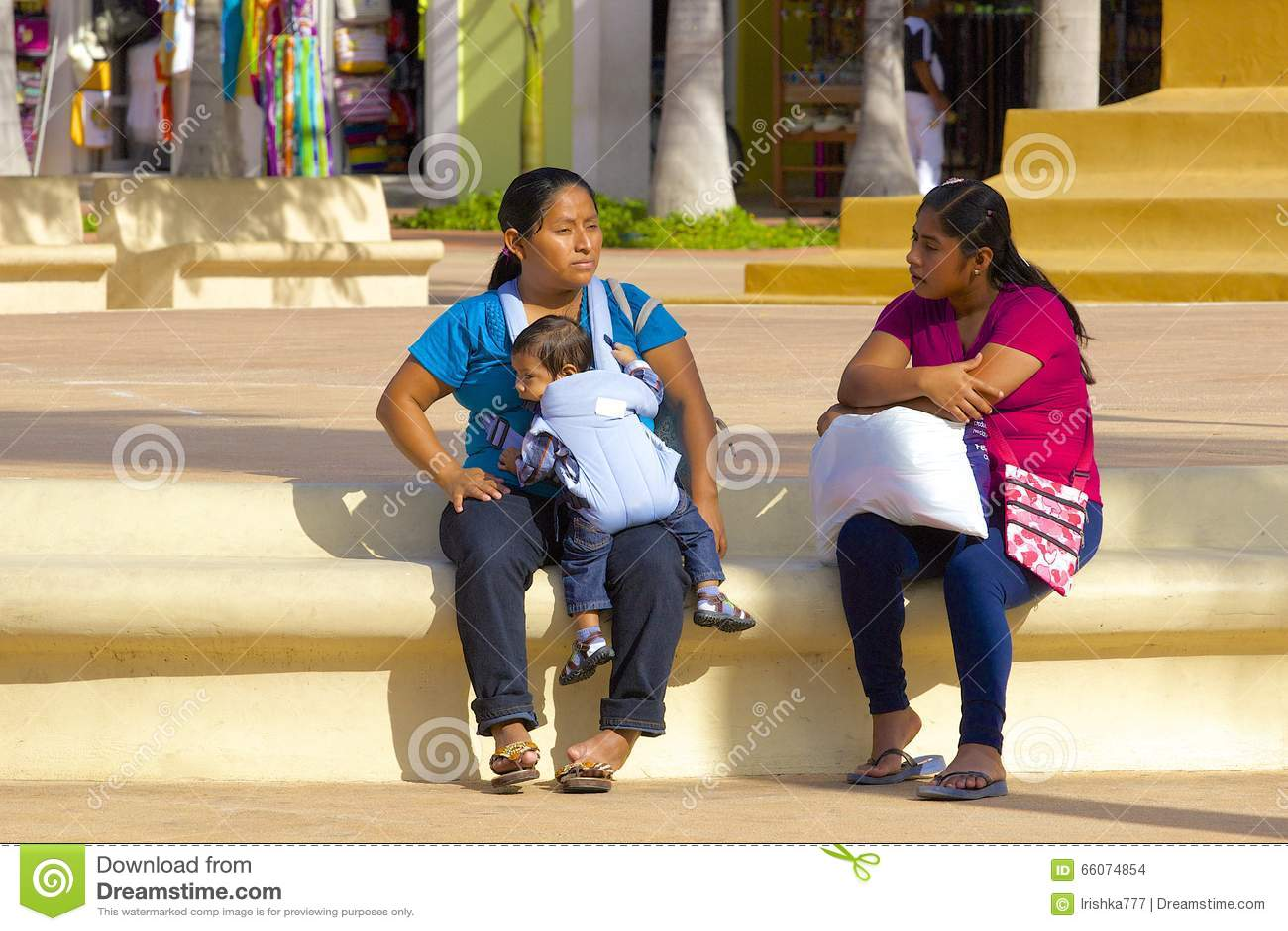 Indígenas en Cozumel, México, del Caribe