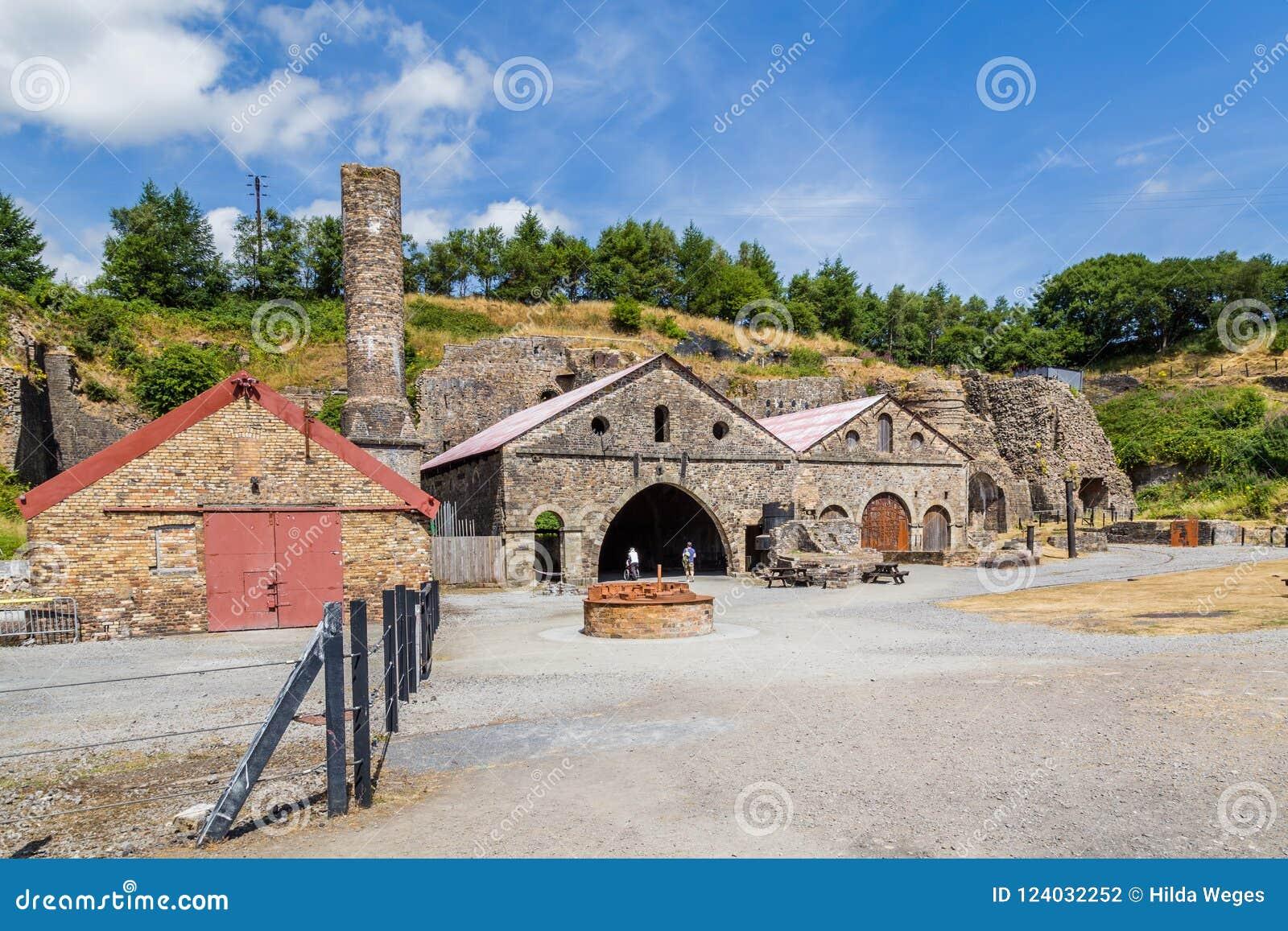Indústrias siderúrgicas de Blaenavon em Gales, Reino Unido