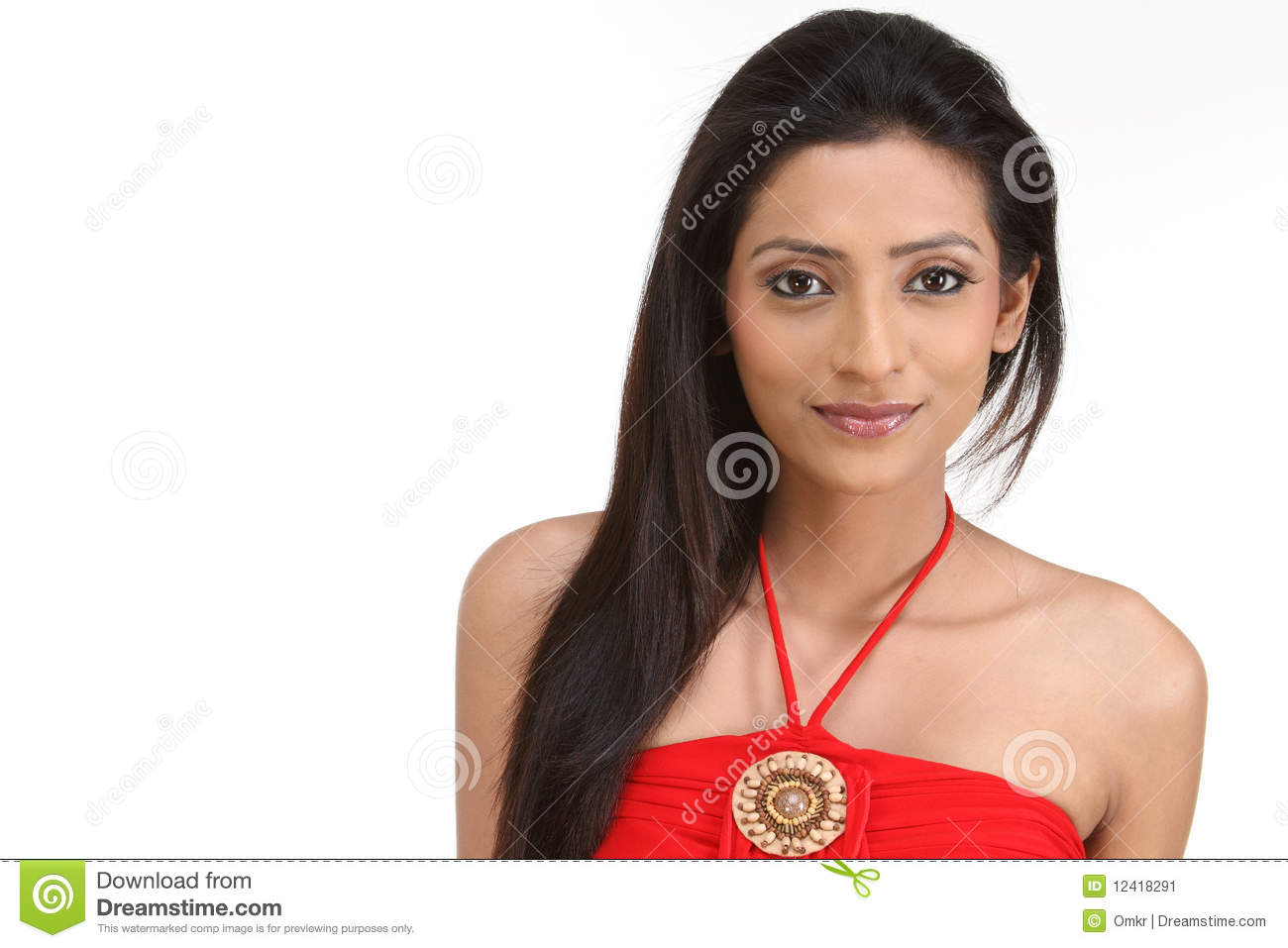 Indan young woman portrait stock image. Image of adult   20