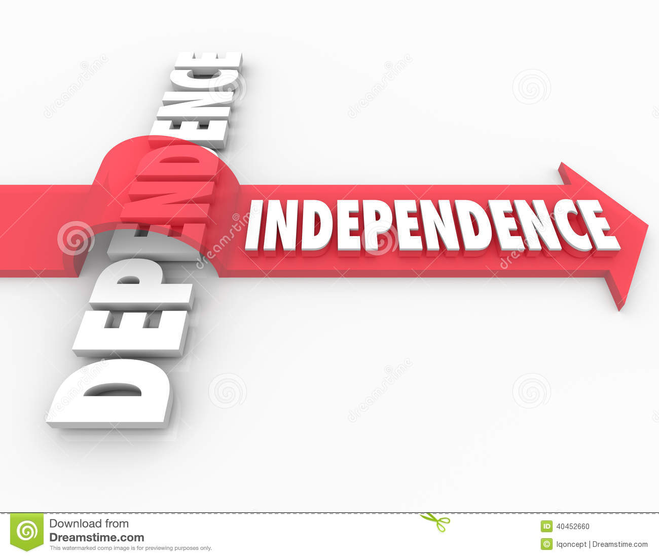 self independence This site might help you re: what is the difference between being self-independent and self-dependent although 80% of times i heard word self.