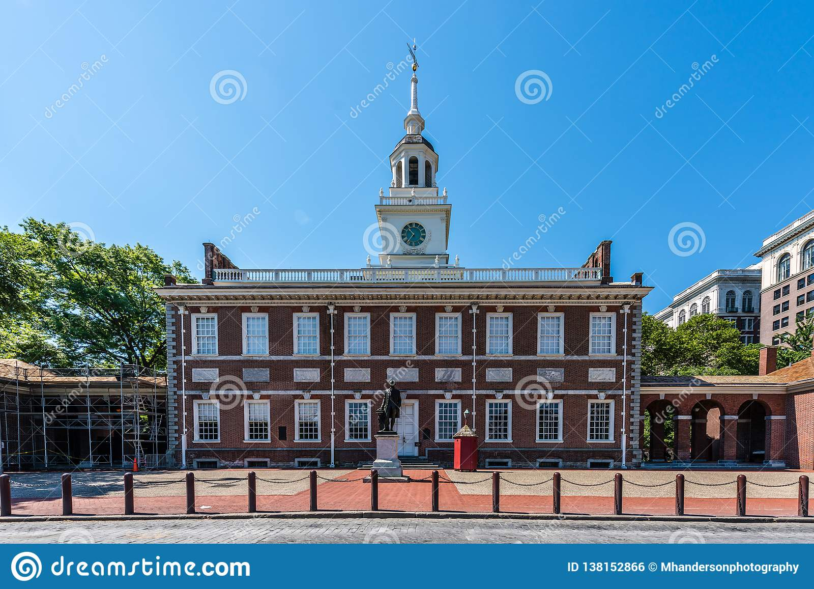A independência histórica Salão de Philadelphfia e a alameda