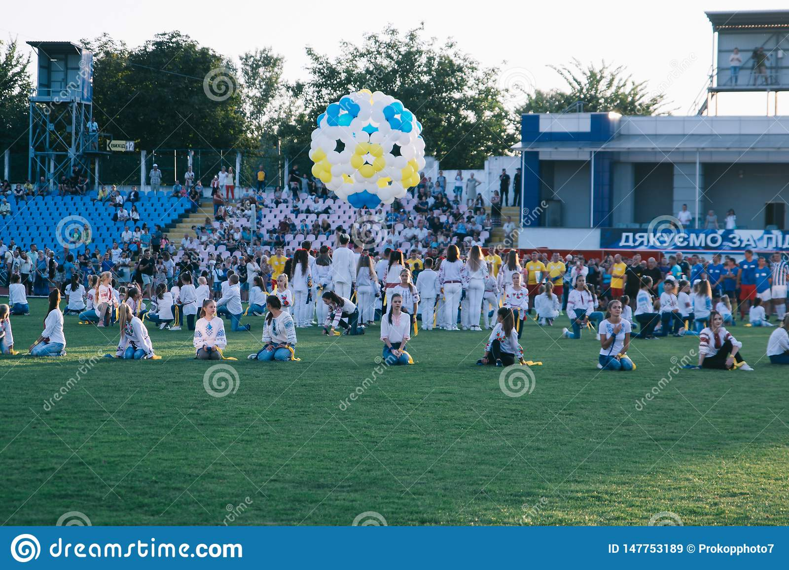 Independence Day celebrations at the stadium in the city of Cherkasy August 24, 2018
