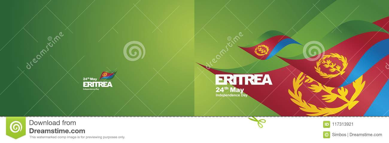 Independence day eritrea flag ribbon two fold landscape background independence day eritrea flag ribbon two fold landscape background m4hsunfo