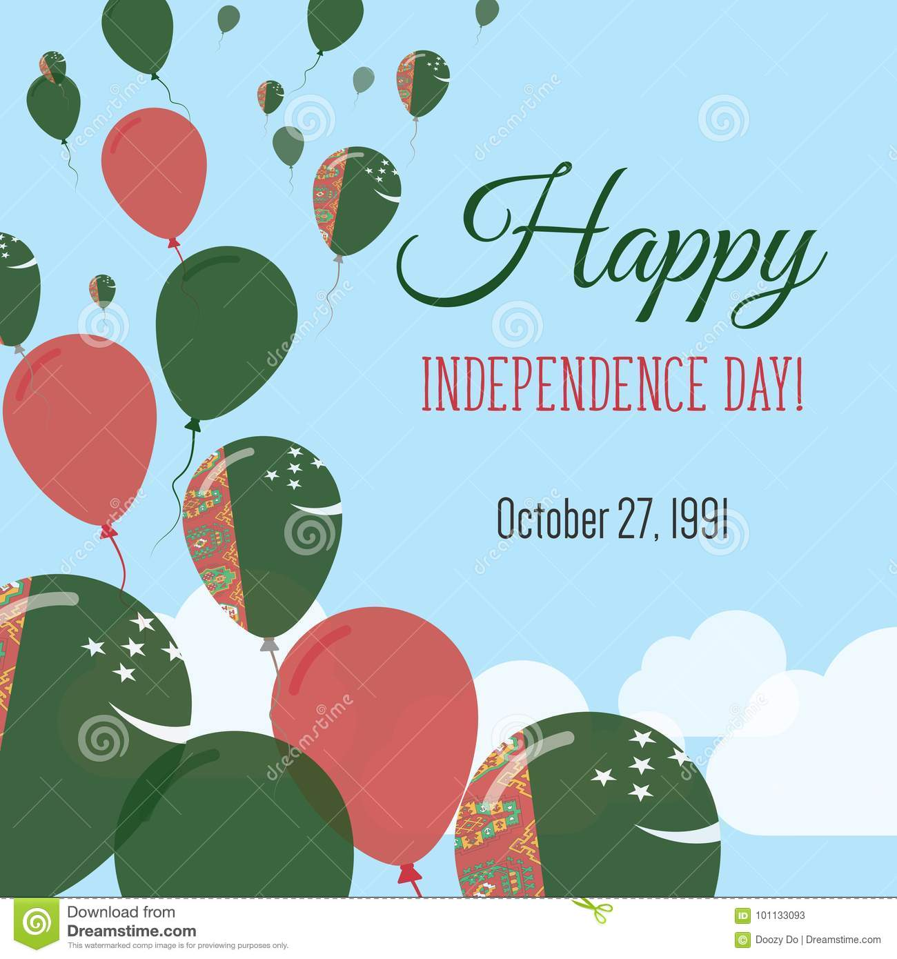 Independence day flat greeting card stock vector illustration of download independence day flat greeting card stock vector illustration of history color m4hsunfo