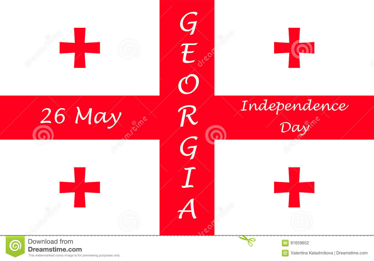Independence Day Of Georgia Stock Vector Illustration Of Annual