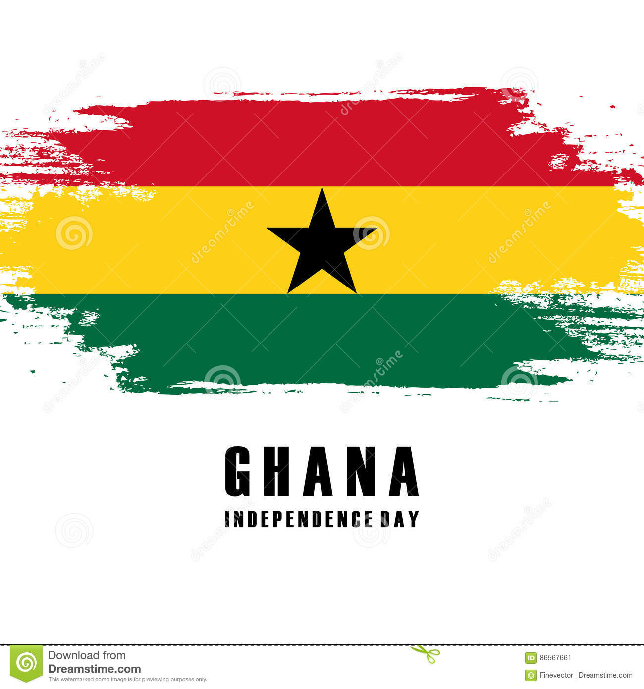 Independence Day Of Ghana Greeting Card Stock Vector Illustration