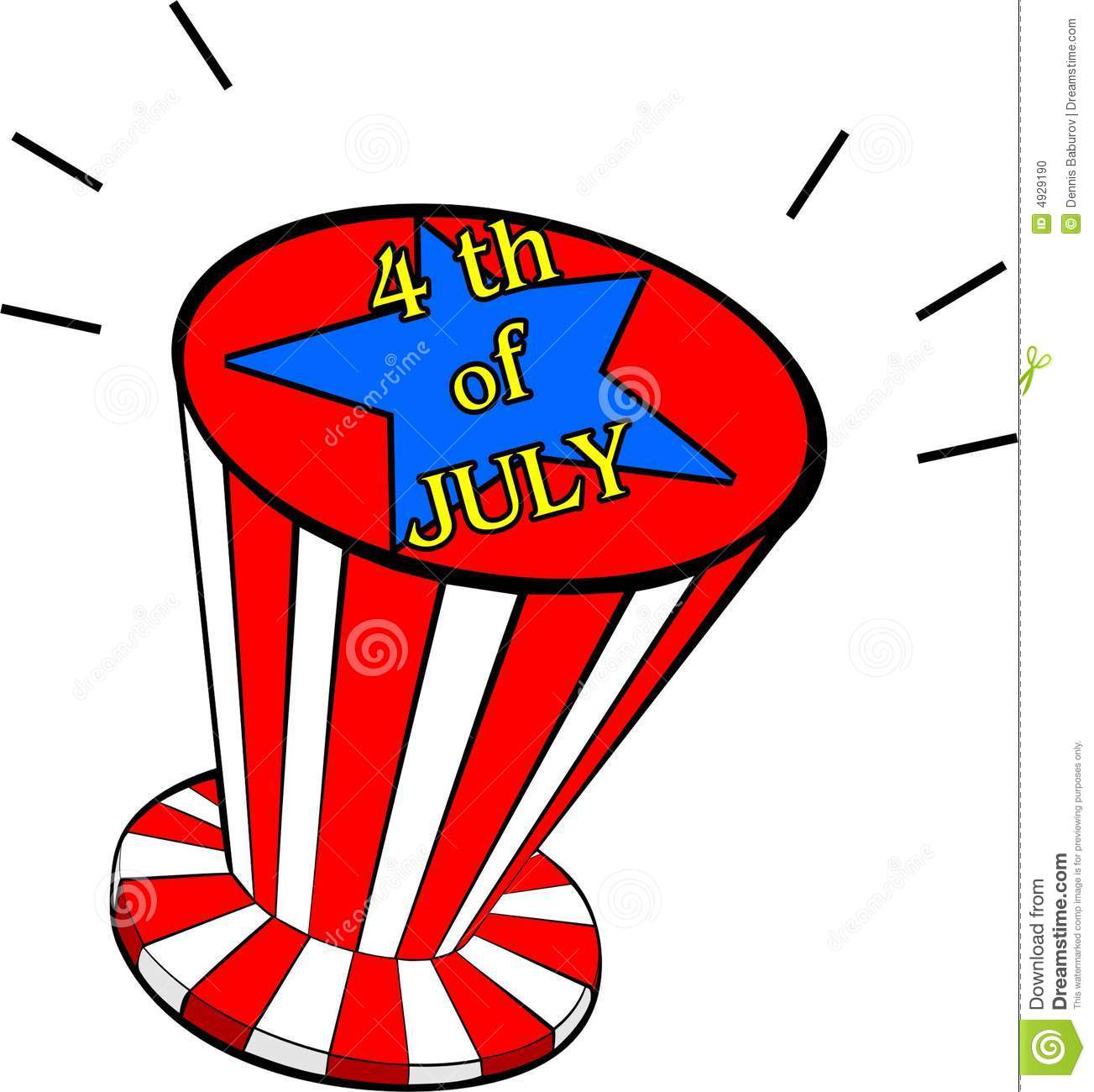 independence day illustration with american hat stock vector
