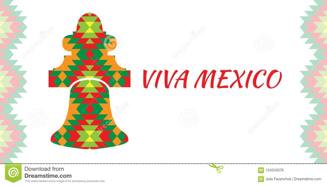 Independence Day Of Mexico. Concept Of The Mexican National Holiday ...