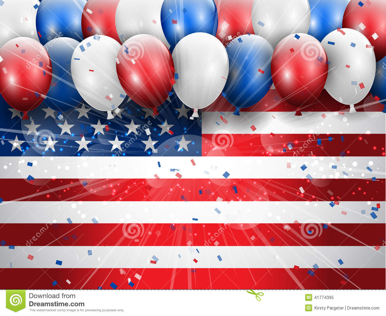 Independence Day 4th July celebration background