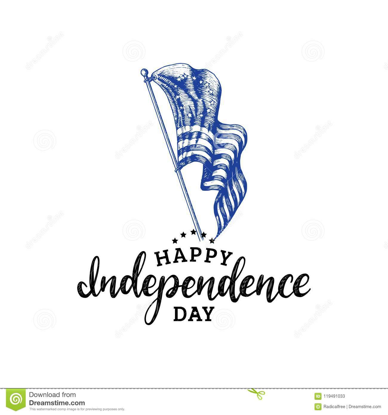 Independence day of united states of americahand letteringctor independence day of united states of americahand letteringctor calligraphic inscription on drawn m4hsunfo