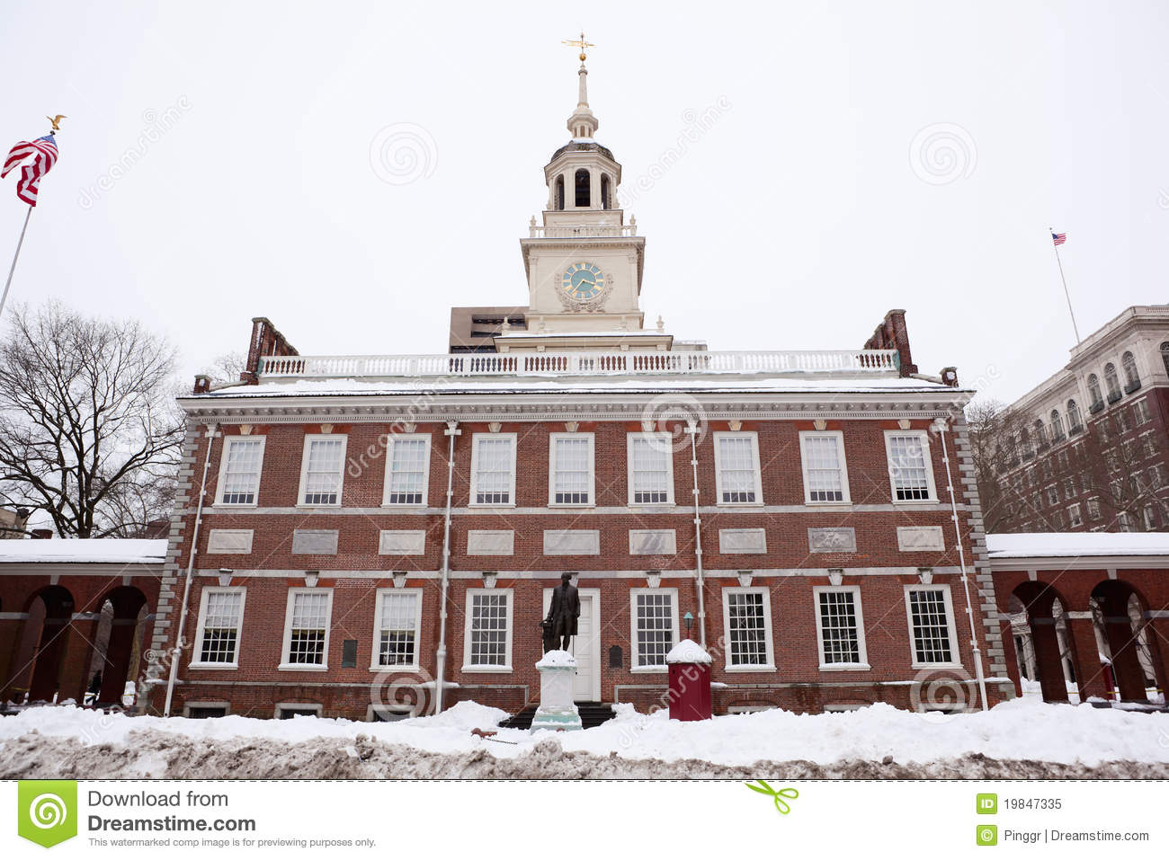Independence Hall Historical Landmark In Philadel Stock