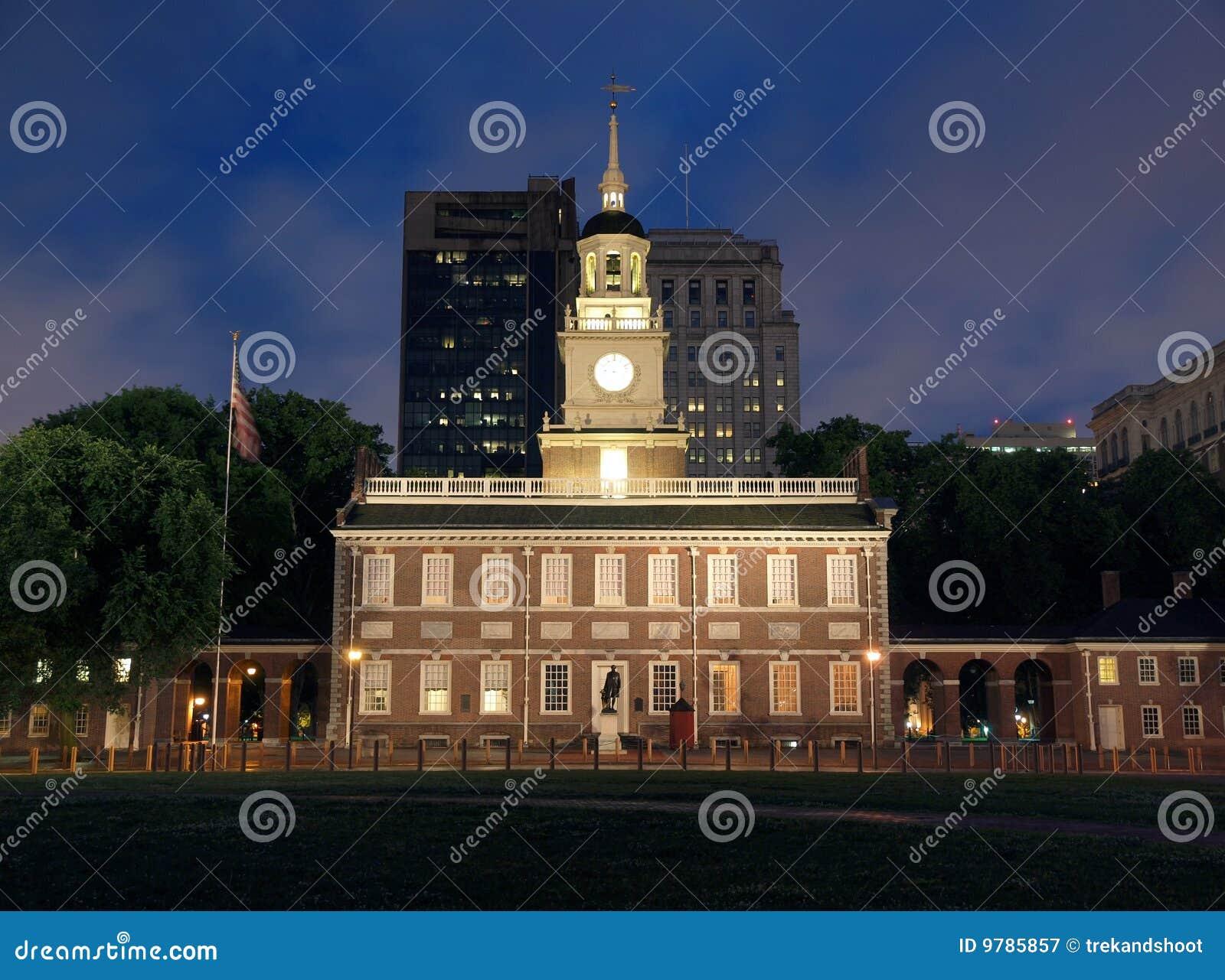 Independence Hall Night