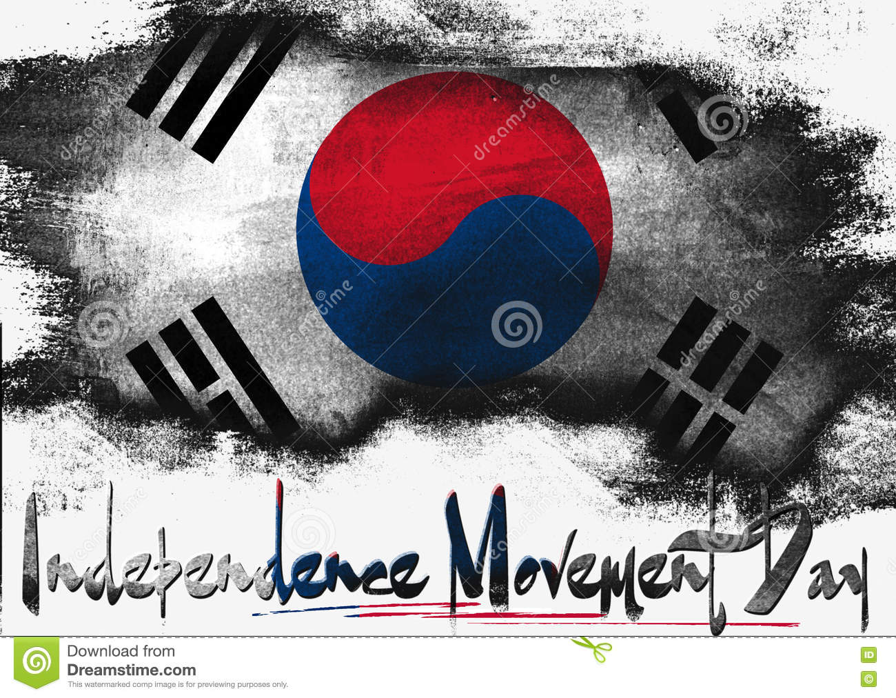 independence movement day of south korea stock illustration