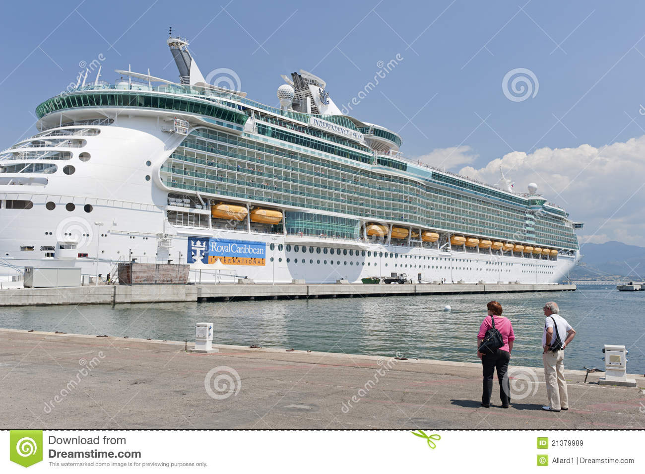 Independence Of The Seas Cruise Ship Docked At Aja