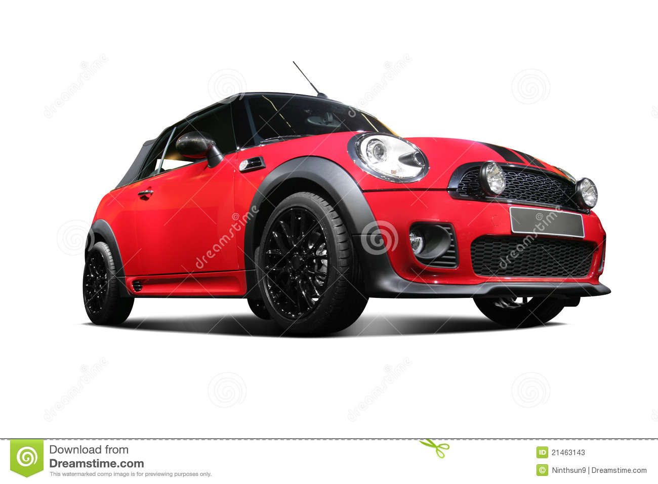 A Independent Red Static Car In White Background Stock ...