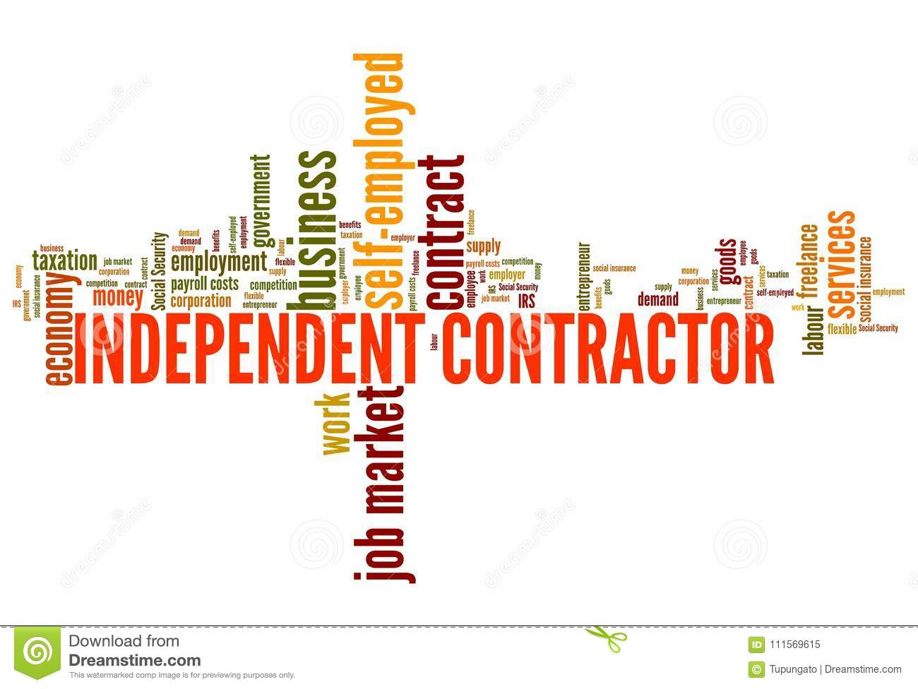Indepentend contractor stock illustration  Illustration of