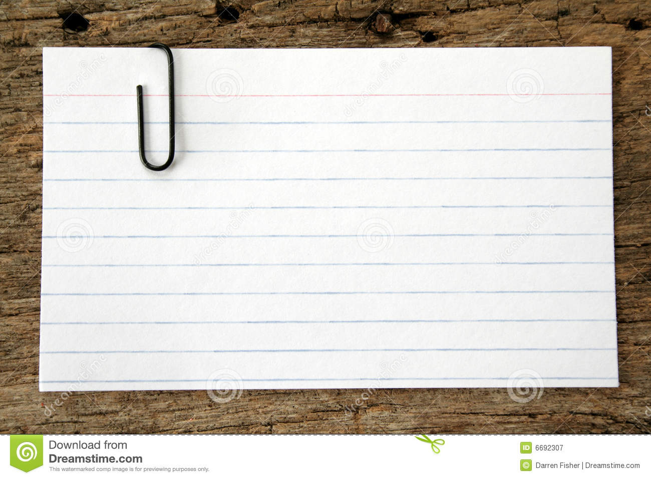 Index Card and Paper Clip