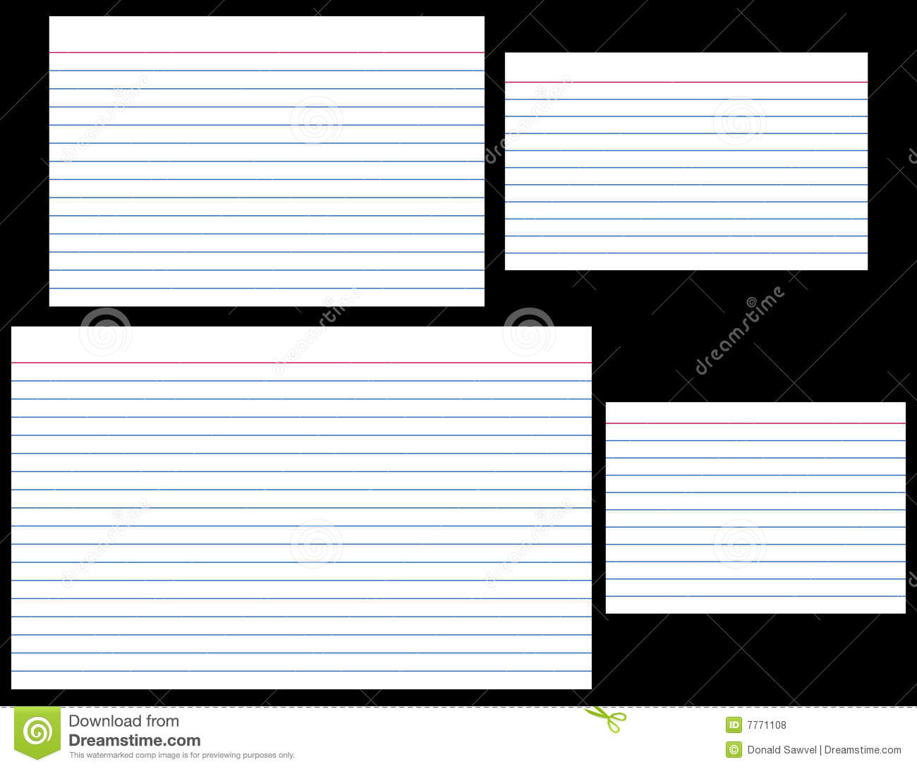 Index cards stock vector illustration of stationery for 5 by 7 notecard template