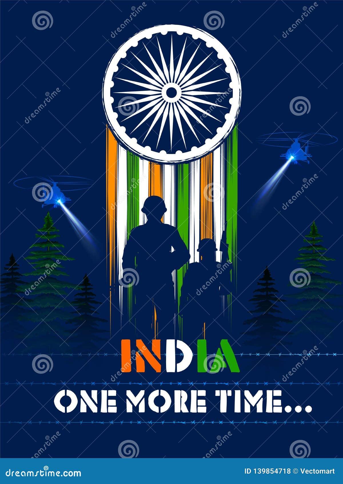 Indiański wojska soilder narodu bohater na dumie India tło