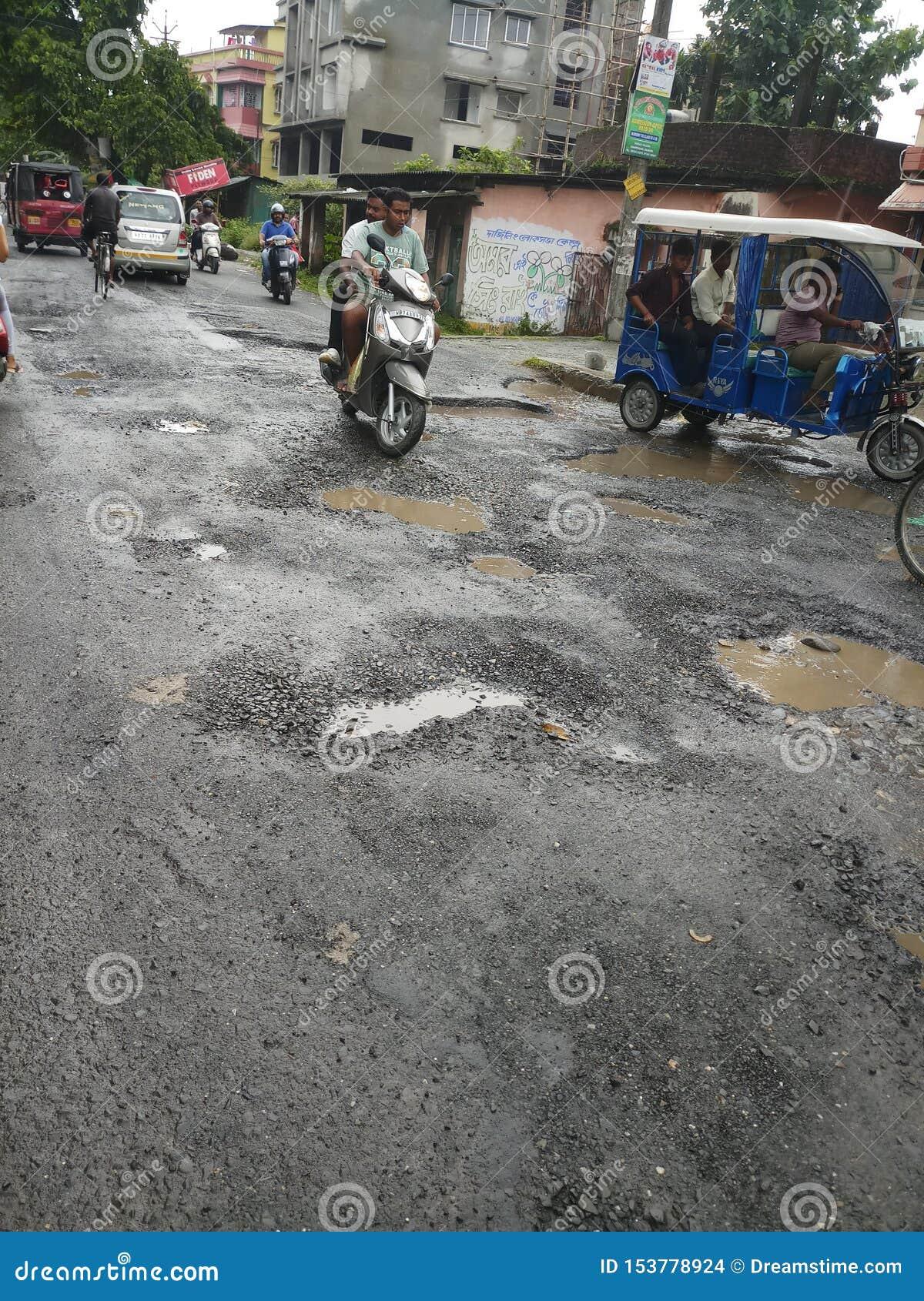 Indiańska droga w porze deszczowej