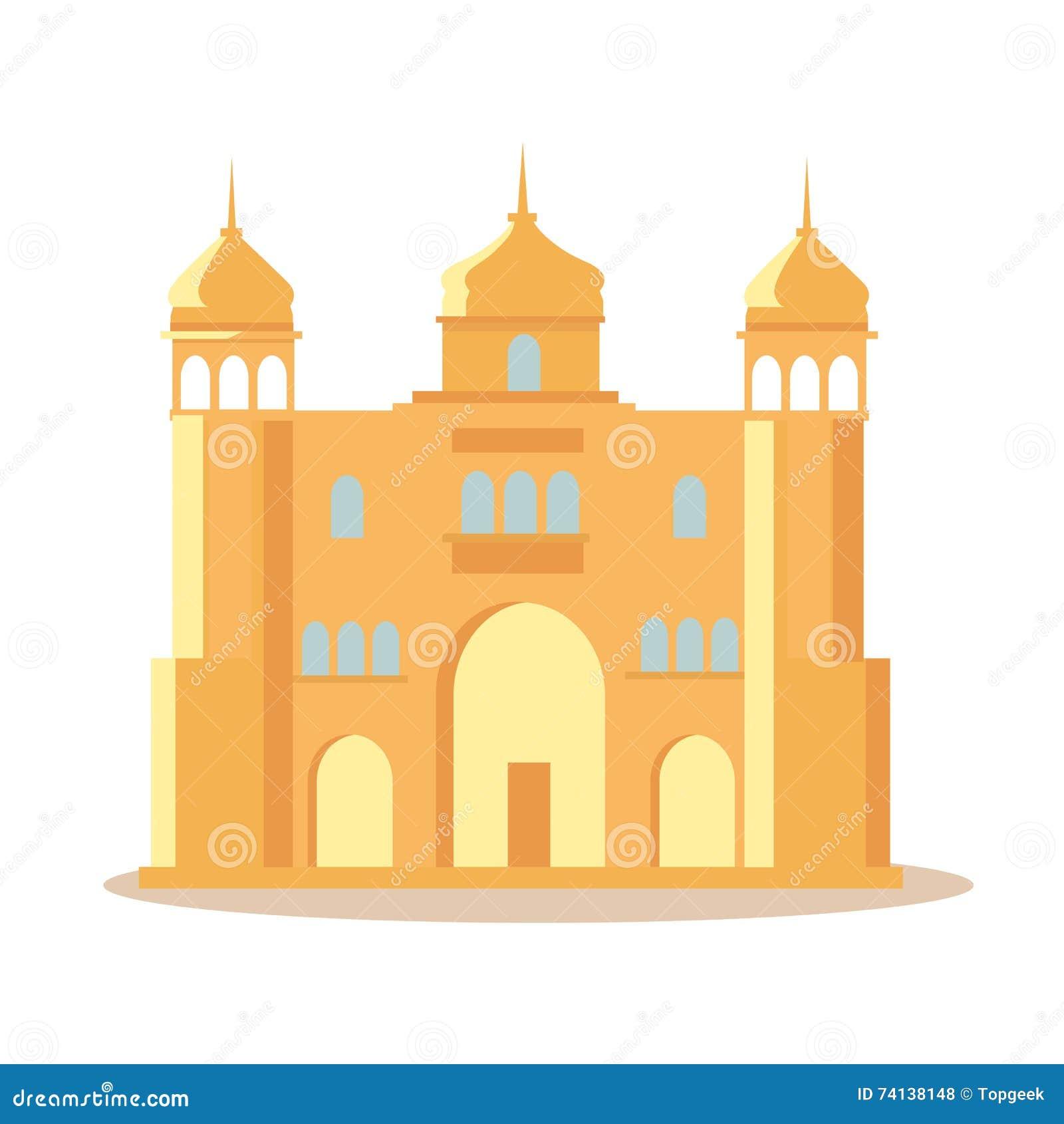 India ska pa ac ilustracja w p askim projekcie ilustracja Design a castle online